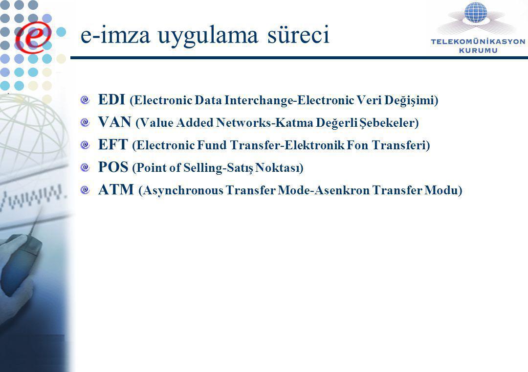 e-imza uygulama süreci