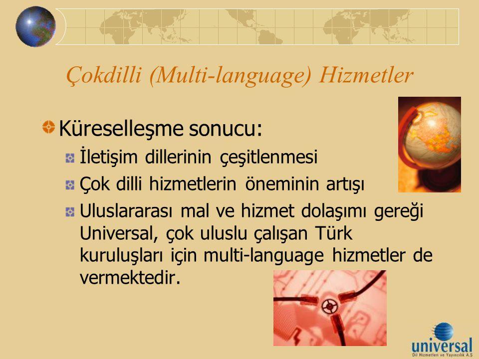 Çokdilli (Multi-language) Hizmetler