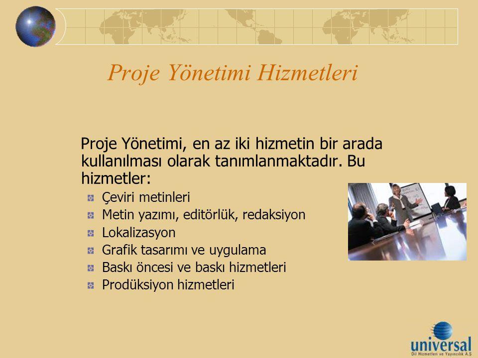 Proje Yönetimi Hizmetleri