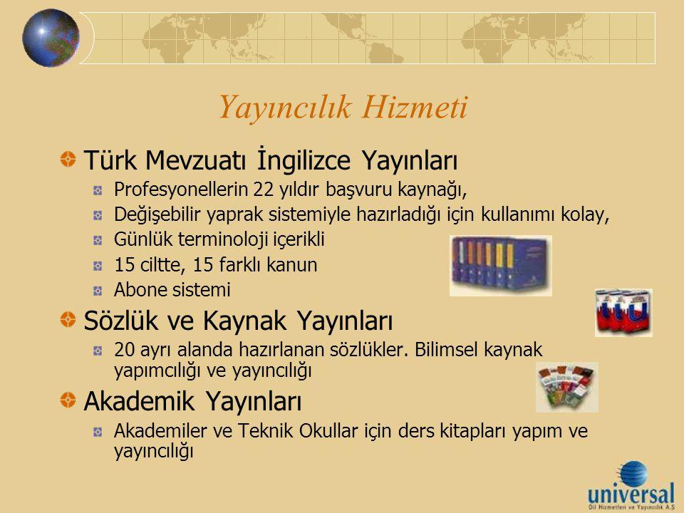 Yayıncılık Hizmeti Türk Mevzuatı İngilizce Yayınları