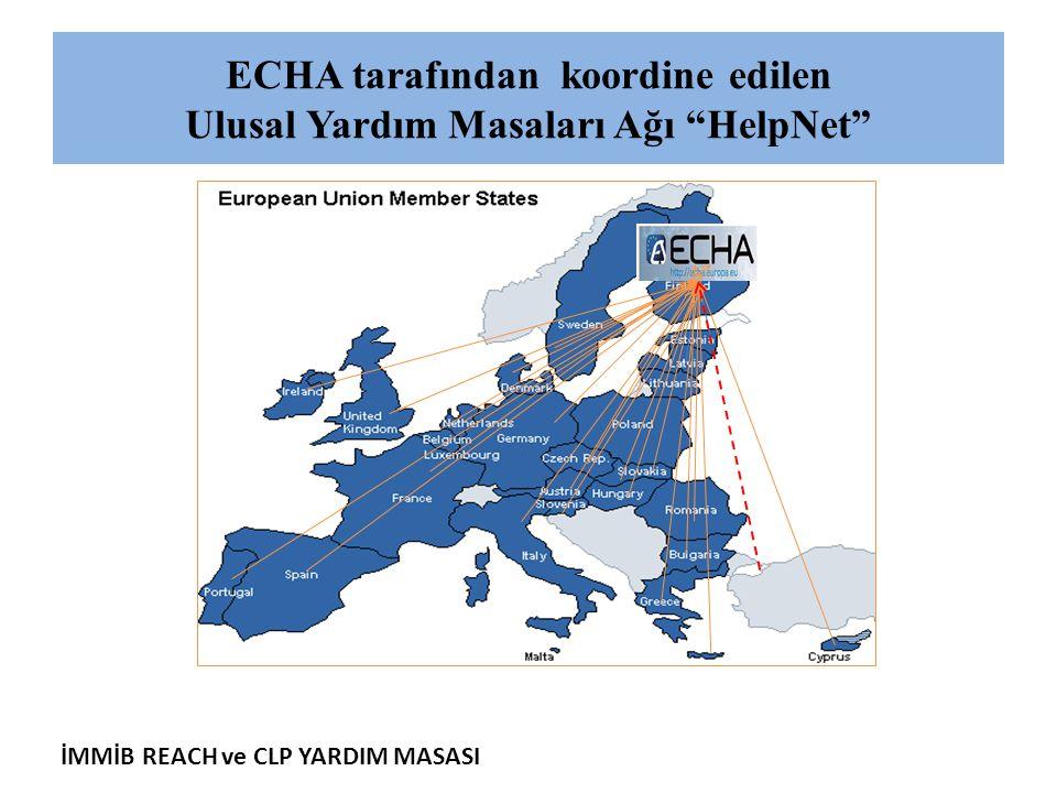 ECHA tarafından koordine edilen Ulusal Yardım Masaları Ağı HelpNet