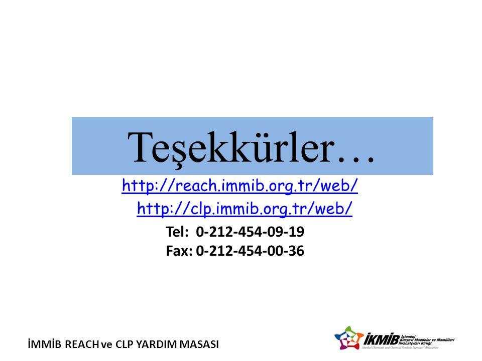 http://reach.immib.org.tr/web/ http://clp.immib.org.tr/web/