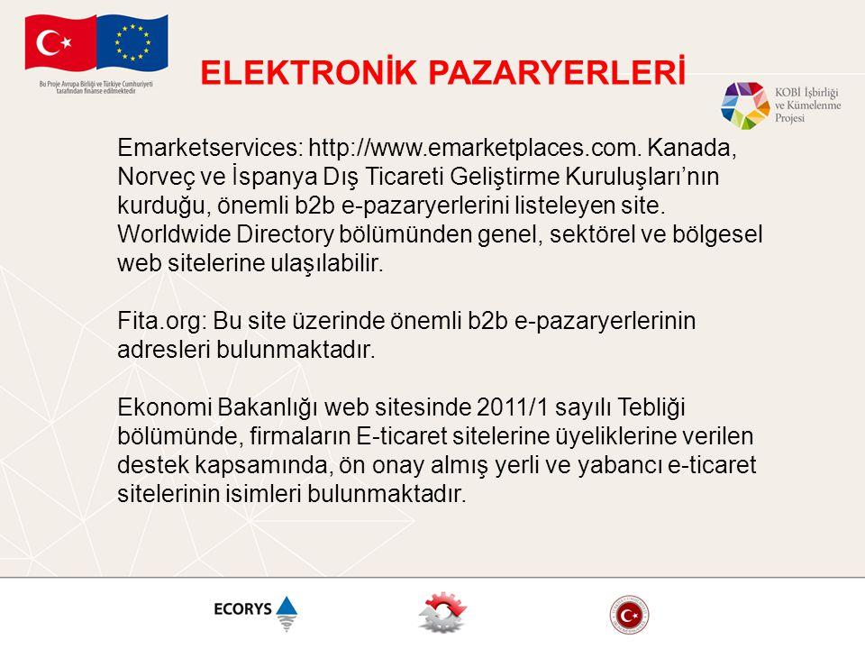 ELEKTRONİK PAZARYERLERİ