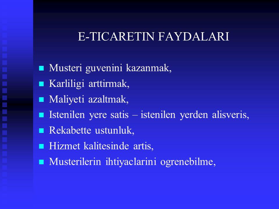 E-TICARETIN FAYDALARI