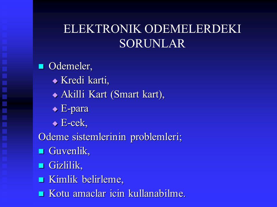 ELEKTRONIK ODEMELERDEKI SORUNLAR