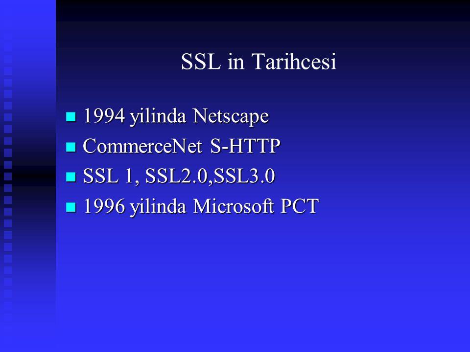 SSL in Tarihcesi 1994 yilinda Netscape CommerceNet S-HTTP