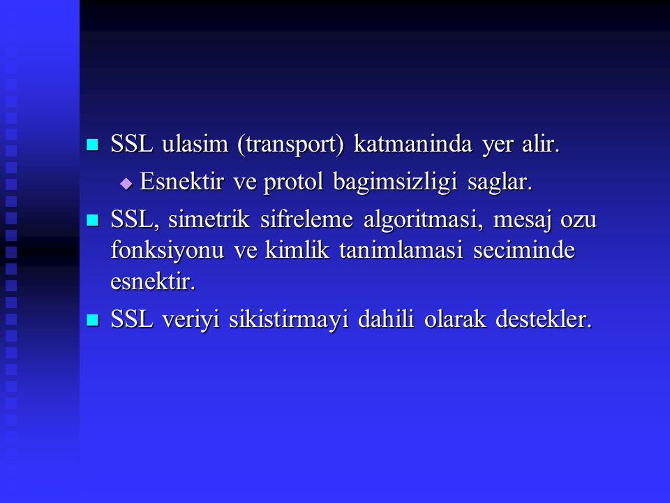SSL ulasim (transport) katmaninda yer alir.