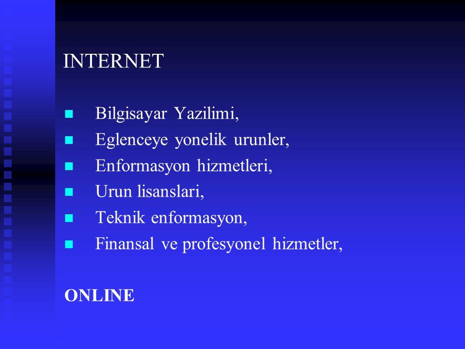 INTERNET Bilgisayar Yazilimi, Eglenceye yonelik urunler,