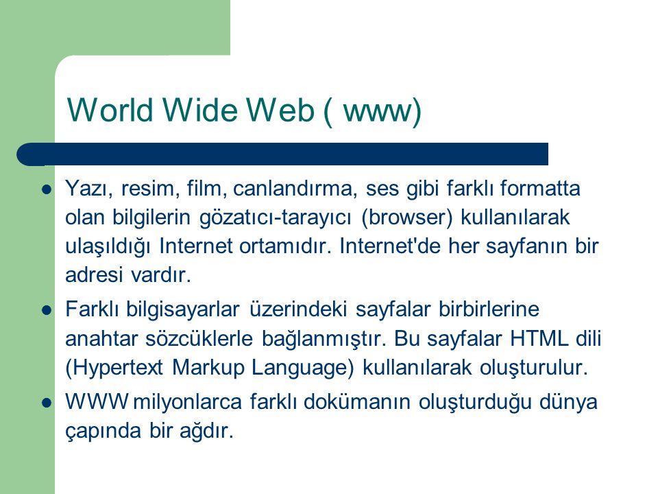 World Wide Web ( www)