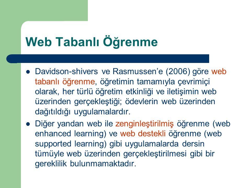 Web Tabanlı Öğrenme
