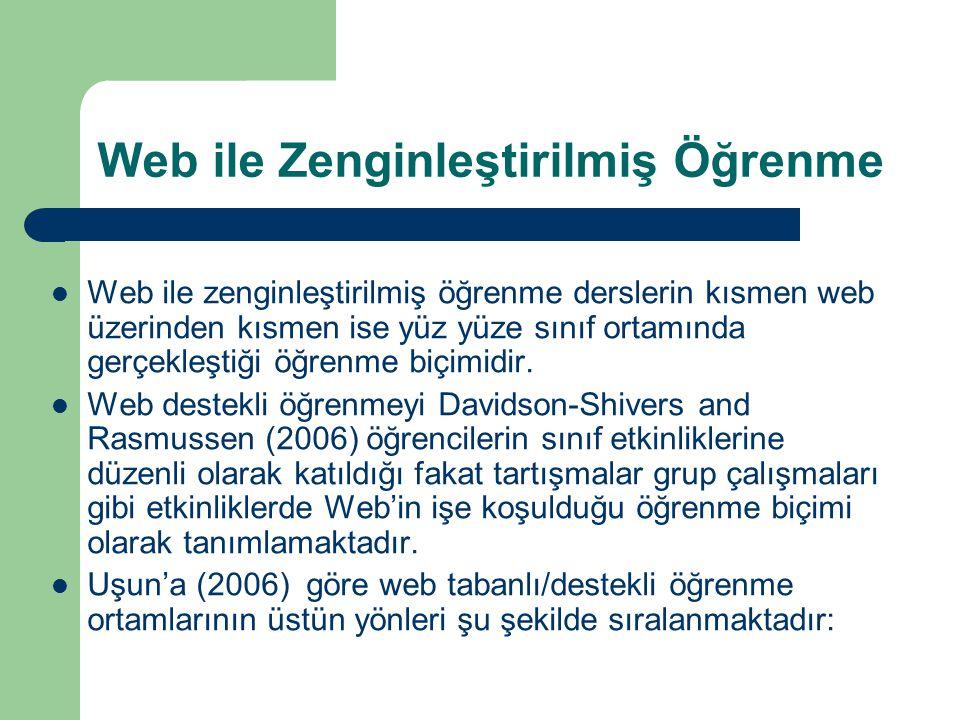Web ile Zenginleştirilmiş Öğrenme