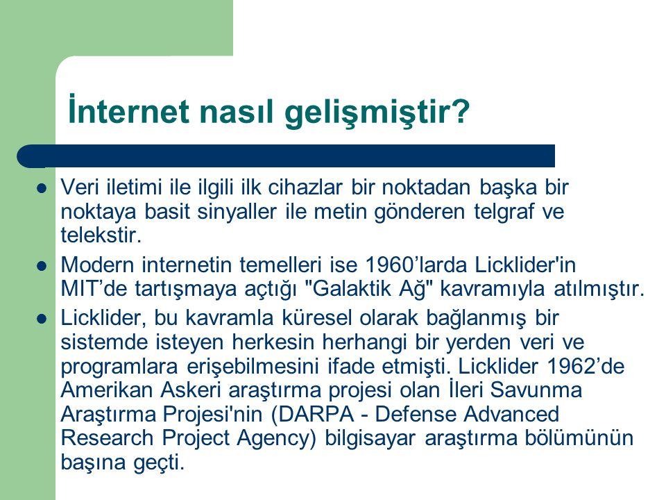 İnternet nasıl gelişmiştir