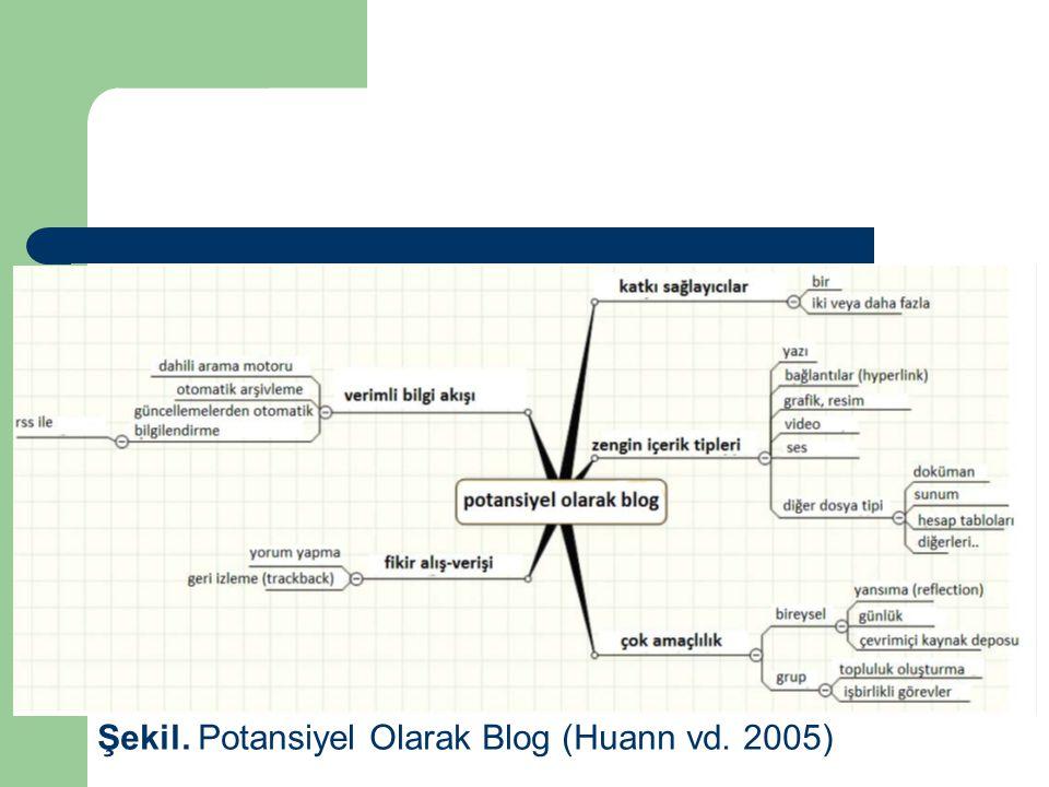 Şekil. Potansiyel Olarak Blog (Huann vd. 2005)