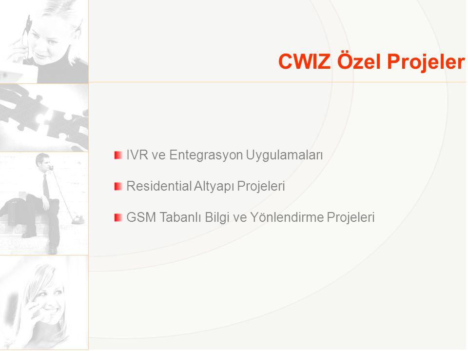CWIZ Özel Projeler IVR ve Entegrasyon Uygulamaları