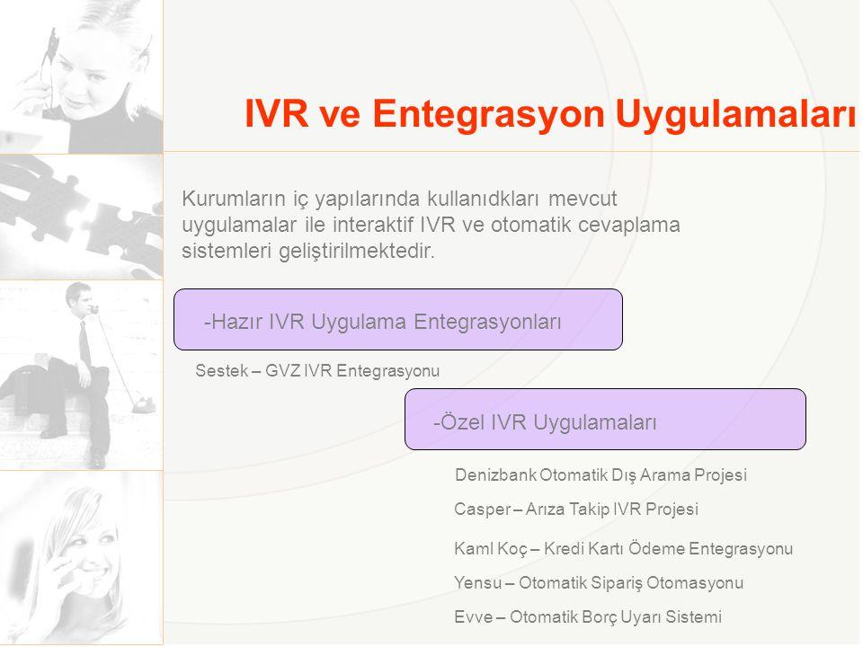 IVR ve Entegrasyon Uygulamaları