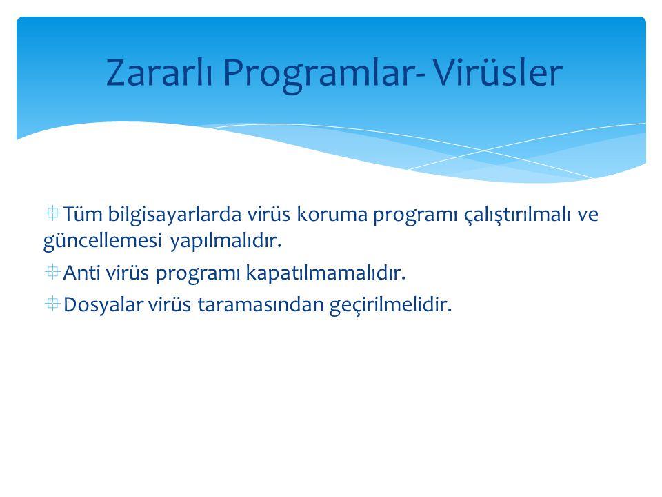 Zararlı Programlar- Virüsler