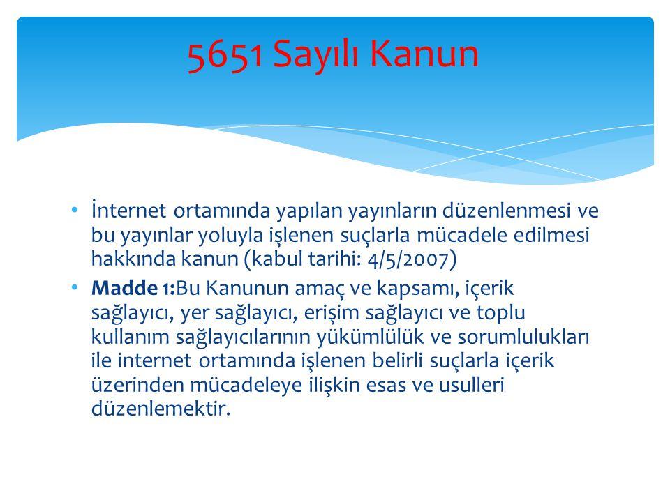 5651 Sayılı Kanun