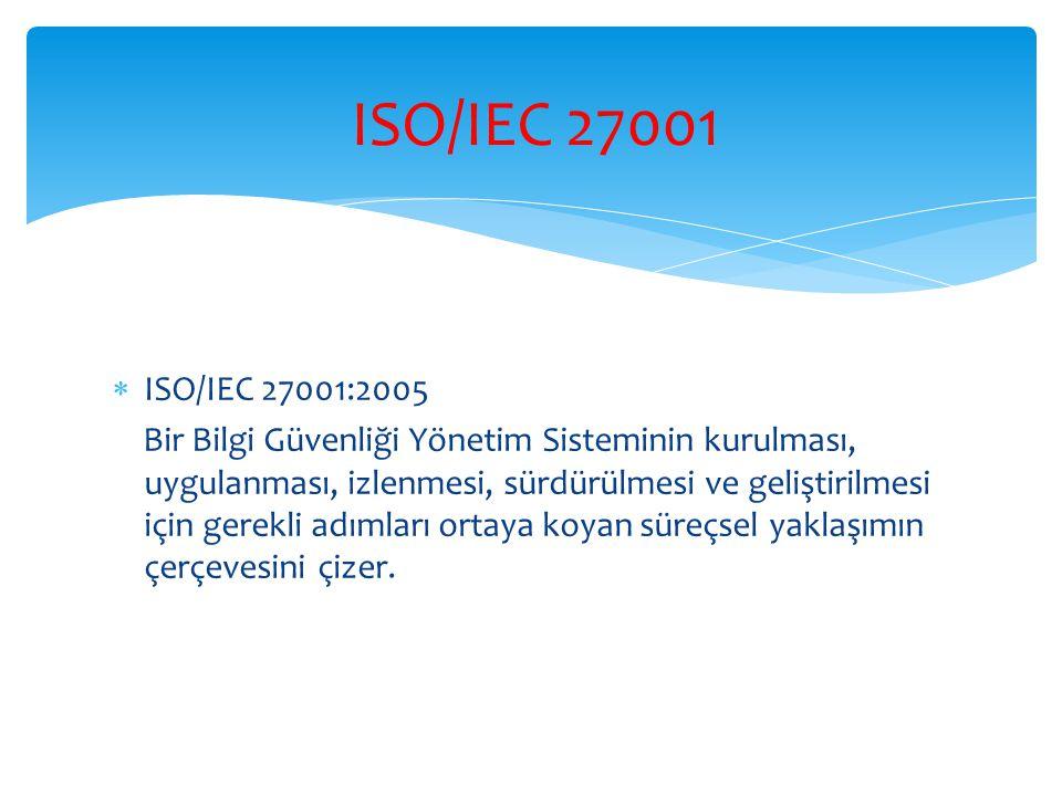 ISO/IEC 27001 ISO/IEC 27001:2005.