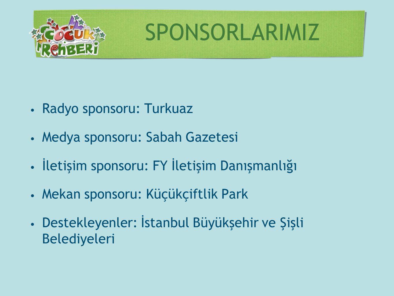 SPONSORLARIMIZ Radyo sponsoru: Turkuaz Medya sponsoru: Sabah Gazetesi