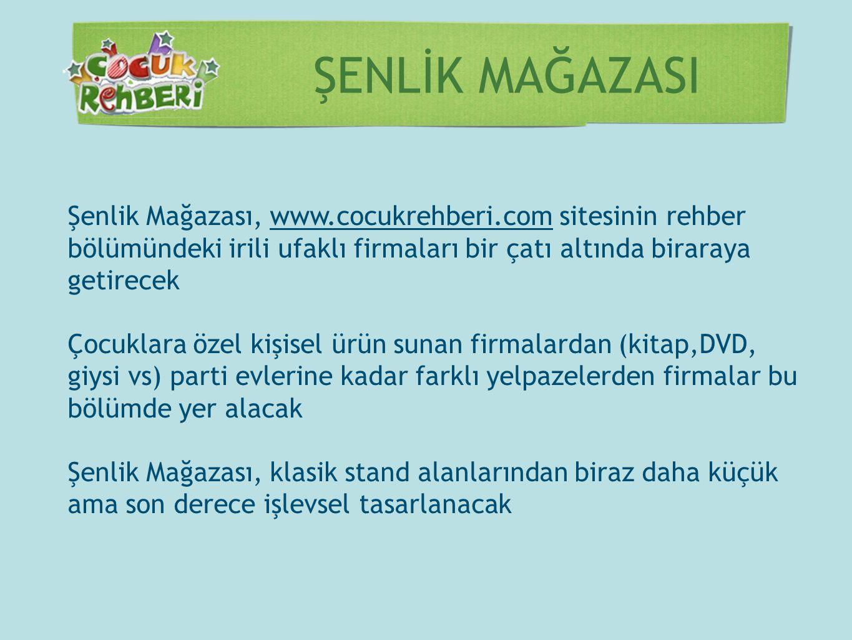 ŞENLİK MAĞAZASI Şenlik Mağazası, www.cocukrehberi.com sitesinin rehber