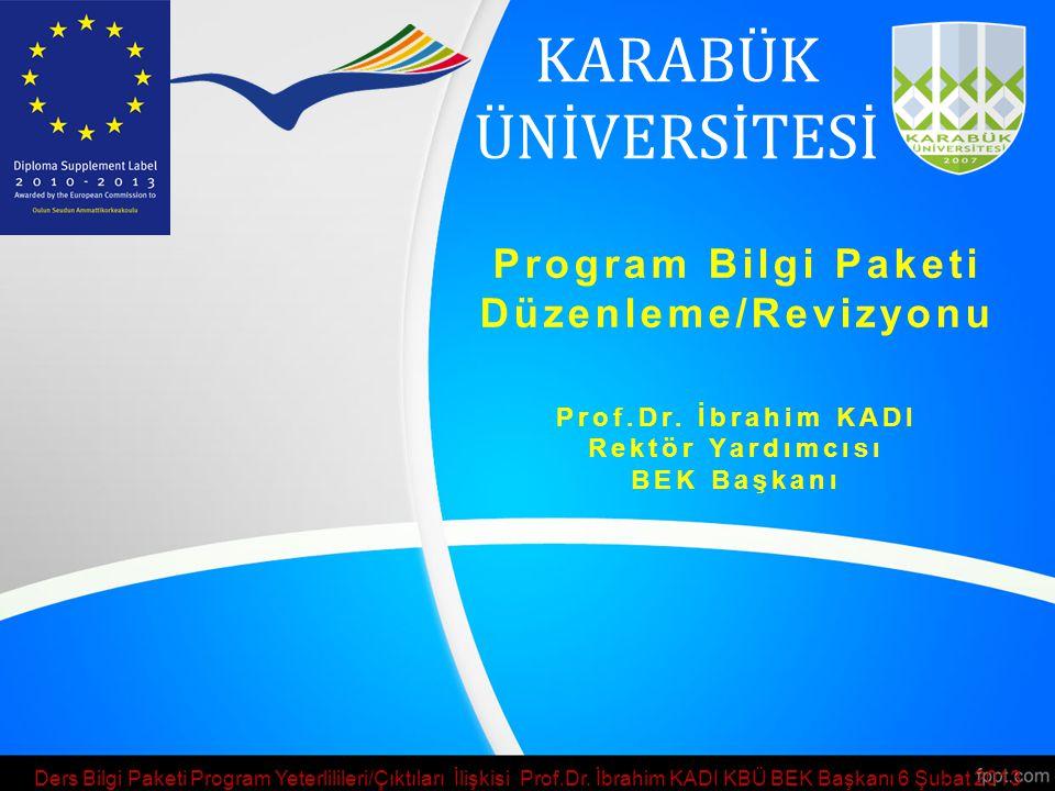 Program Bilgi Paketi Düzenleme/Revizyonu