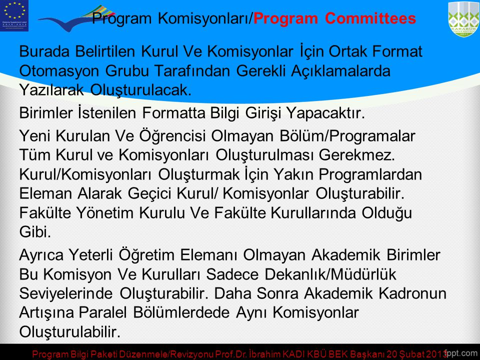 Program Komisyonları/Program Committees