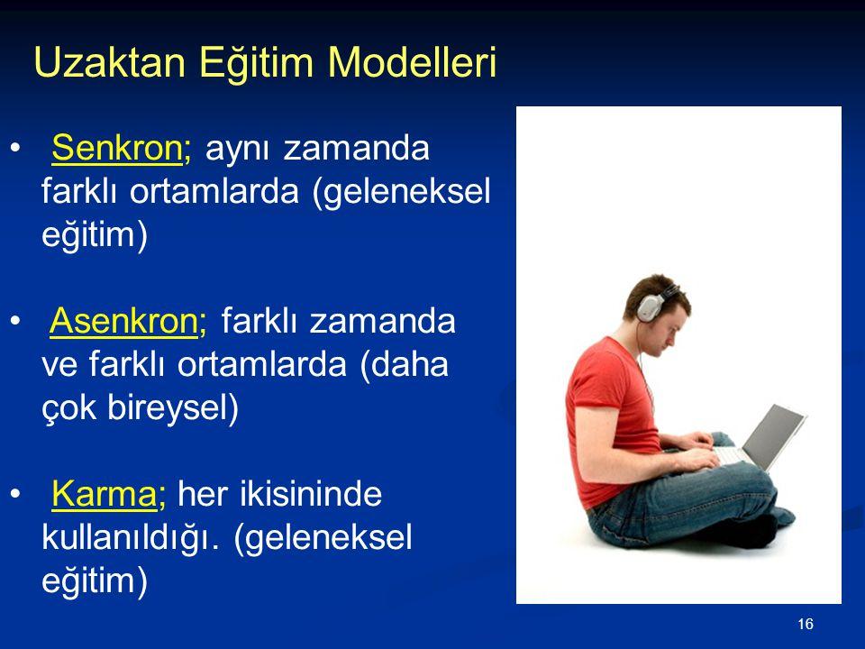 Uzaktan Eğitim Modelleri