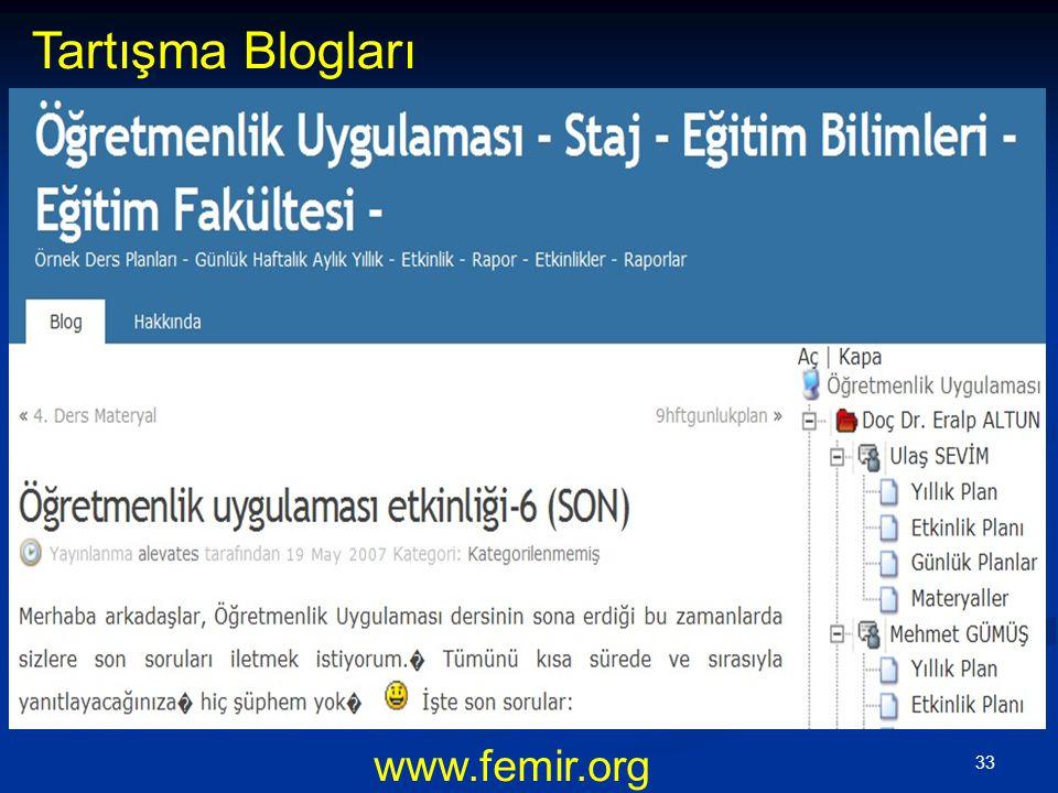 Tartışma Blogları www.femir.org