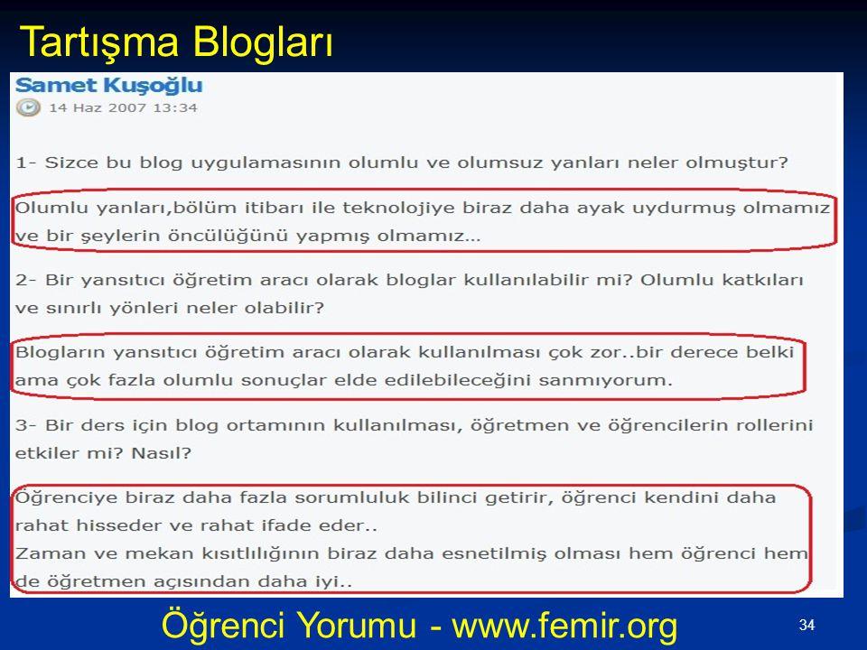 Öğrenci Yorumu - www.femir.org