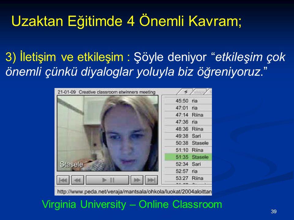 Virginia University – Online Classroom