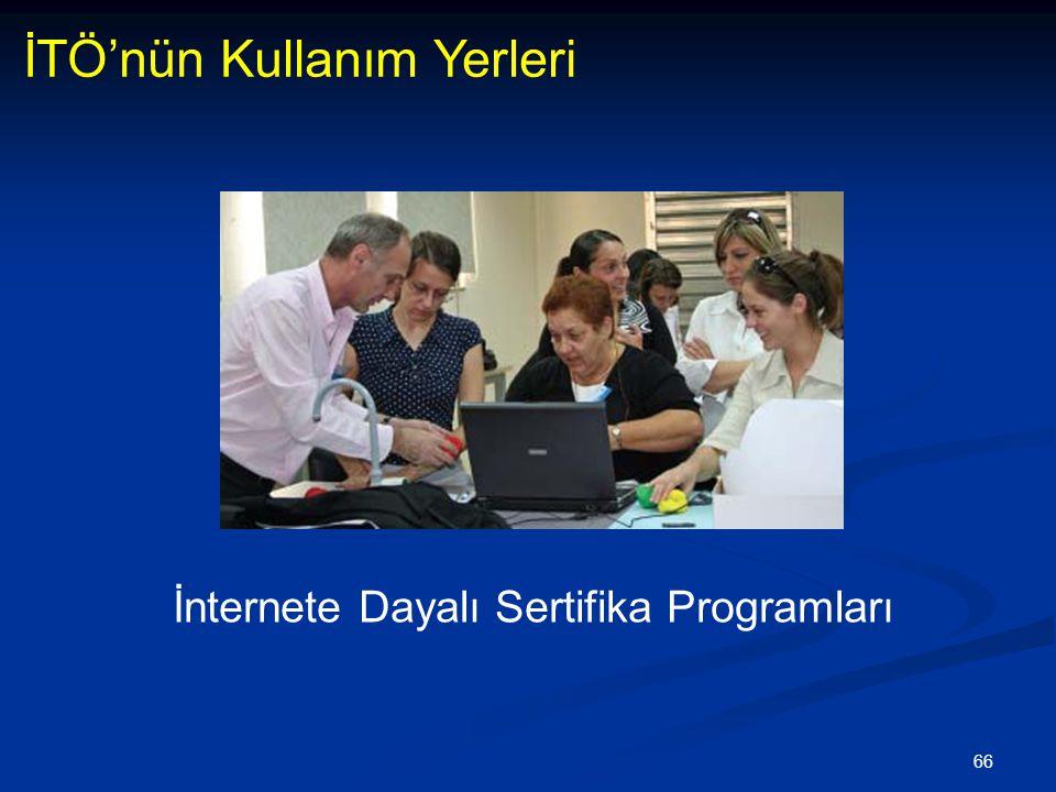 İnternete Dayalı Sertifika Programları