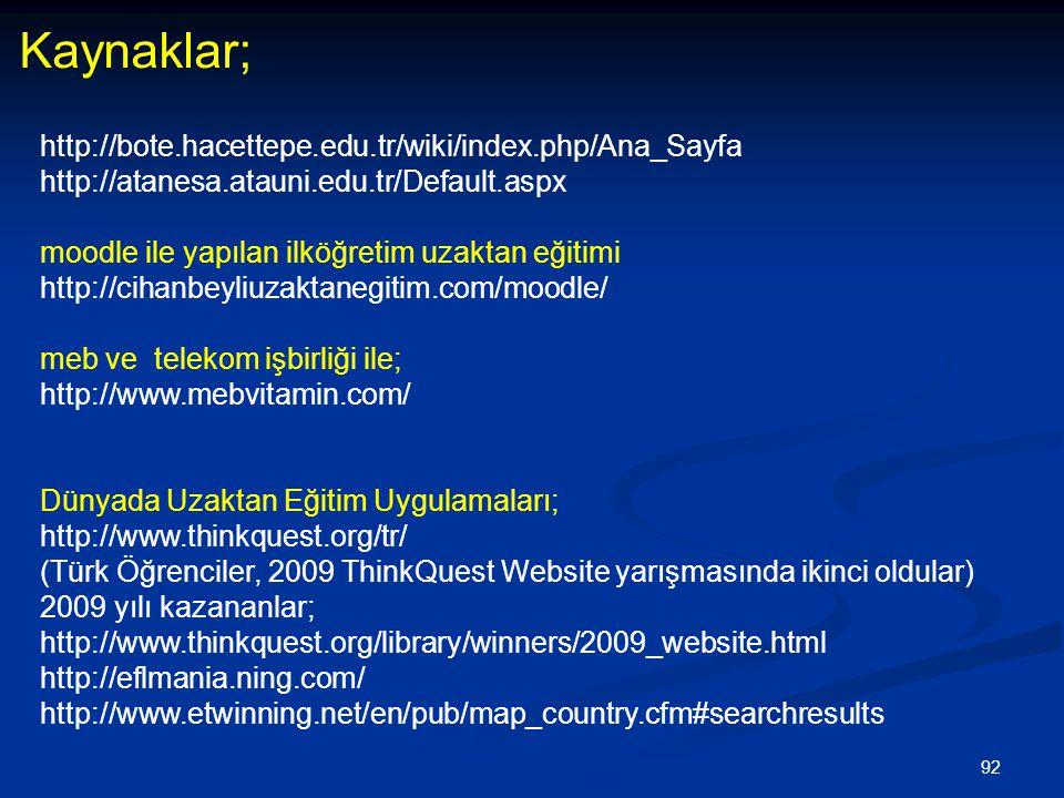 Kaynaklar; http://bote.hacettepe.edu.tr/wiki/index.php/Ana_Sayfa