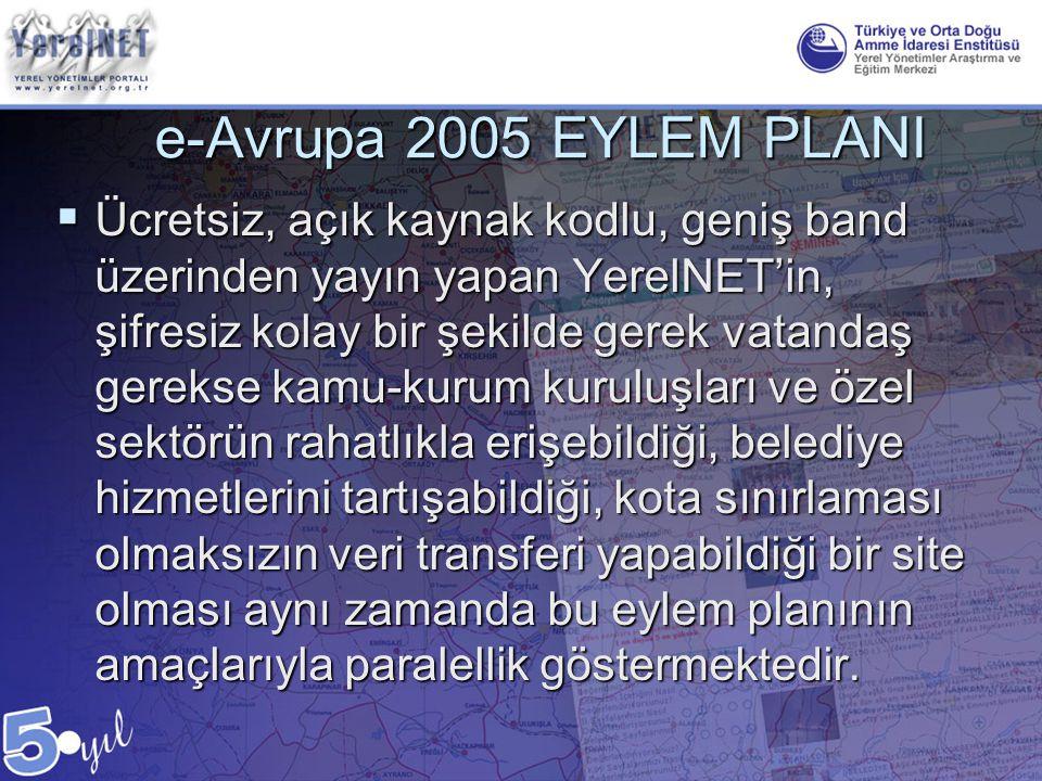 e-Avrupa 2005 EYLEM PLANI