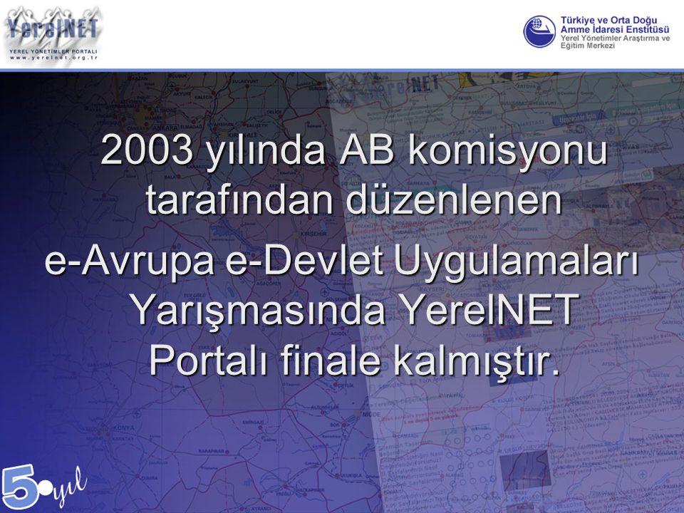 2003 yılında AB komisyonu tarafından düzenlenen