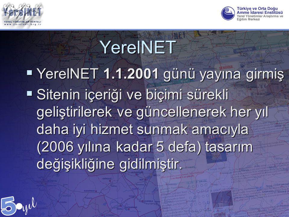 YerelNET YerelNET 1.1.2001 günü yayına girmiş