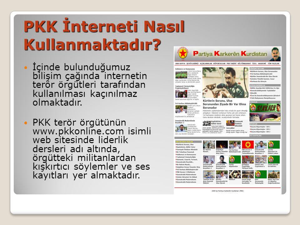 PKK İnterneti Nasıl Kullanmaktadır
