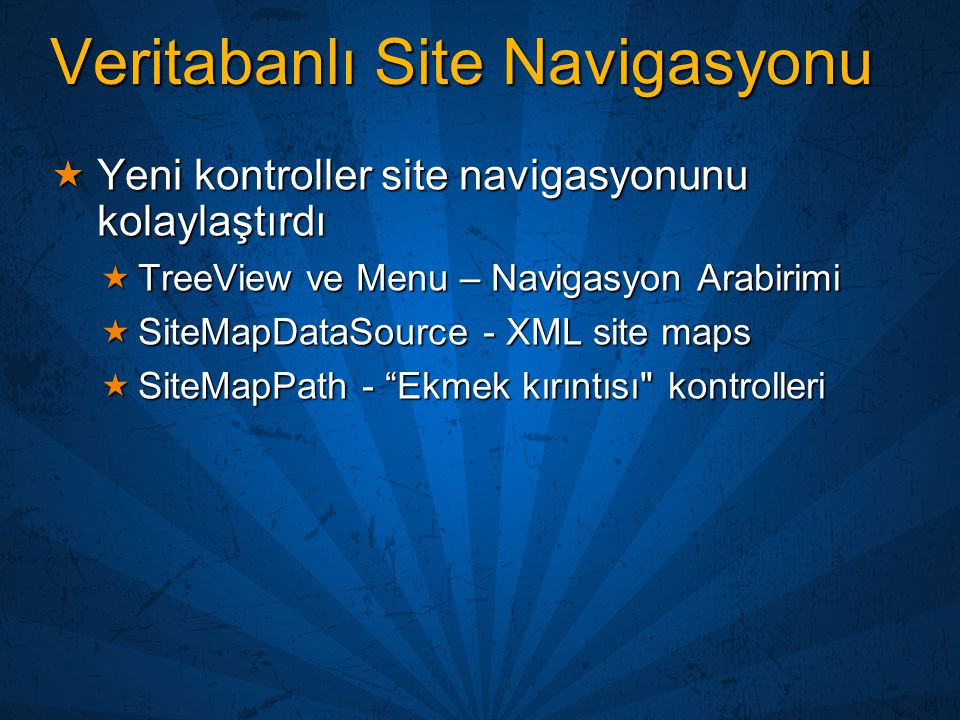 Veritabanlı Site Navigasyonu