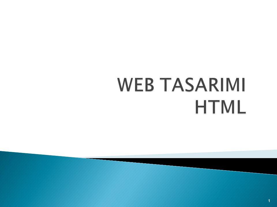 WEB TASARIMI HTML