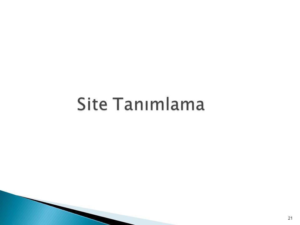 Site Tanımlama