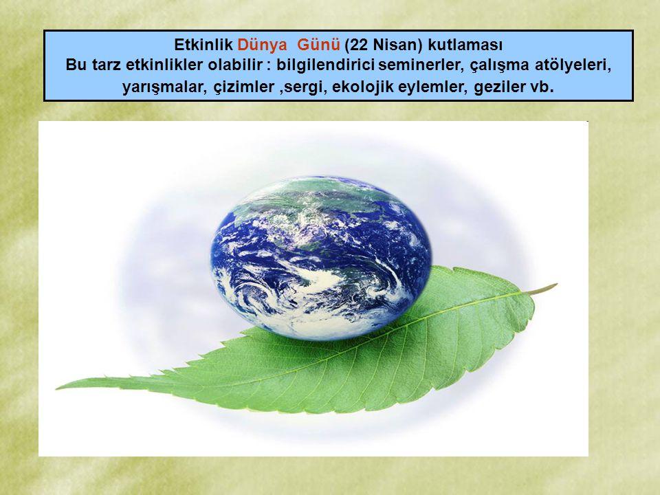 Etkinlik Dünya Günü (22 Nisan) kutlaması
