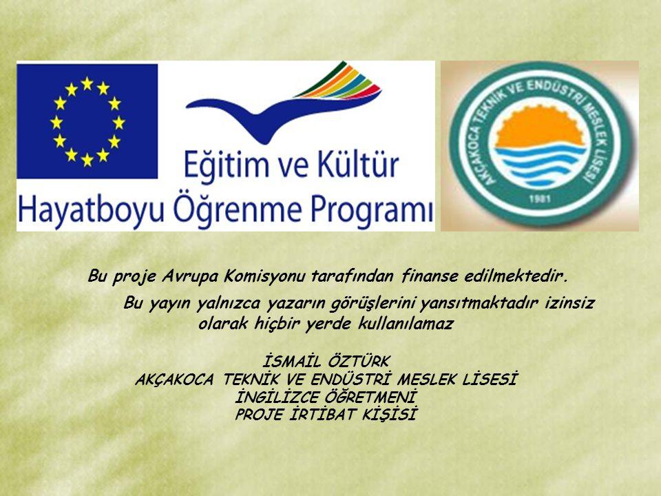Bu proje Avrupa Komisyonu tarafından finanse edilmektedir.