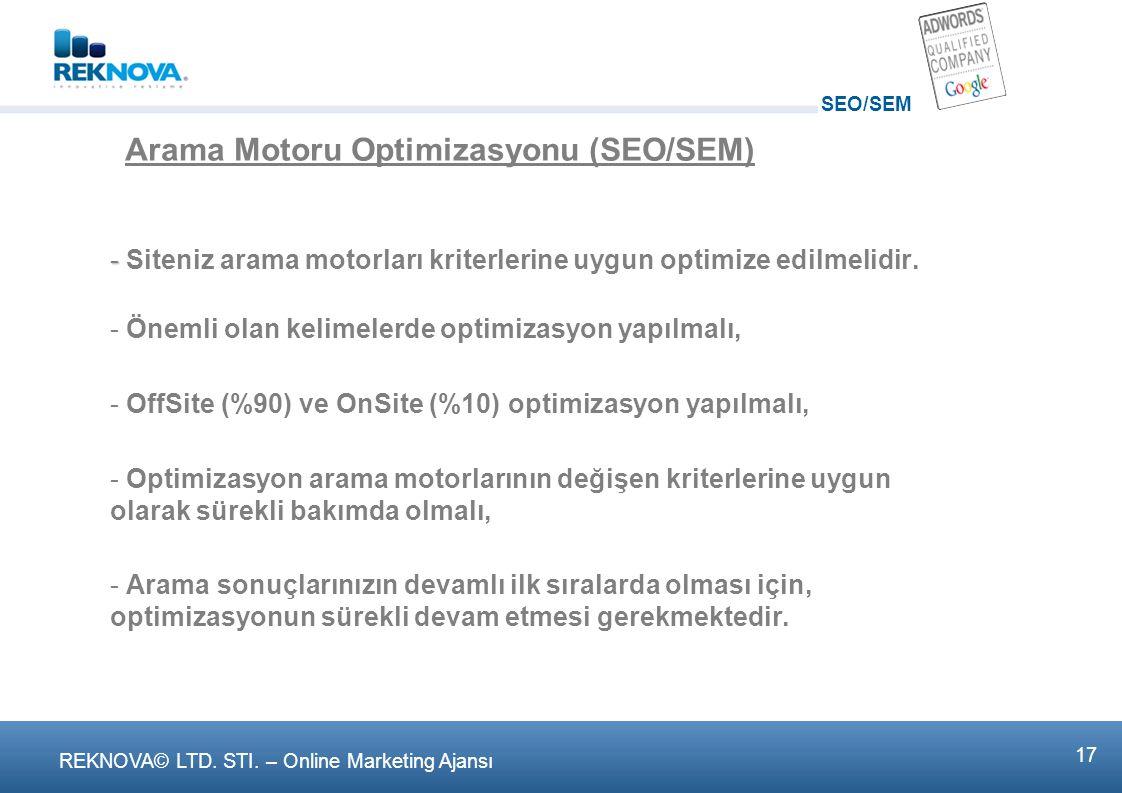 Arama Motoru Optimizasyonu (SEO/SEM)