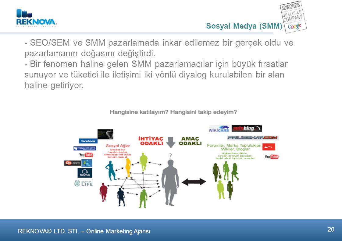 Sosyal Medya (SMM) - 2 milyarı aşan dünya internet vatandaşlarının %60'ı yani 1.2 milyar kişi sosyal medya üyesi.