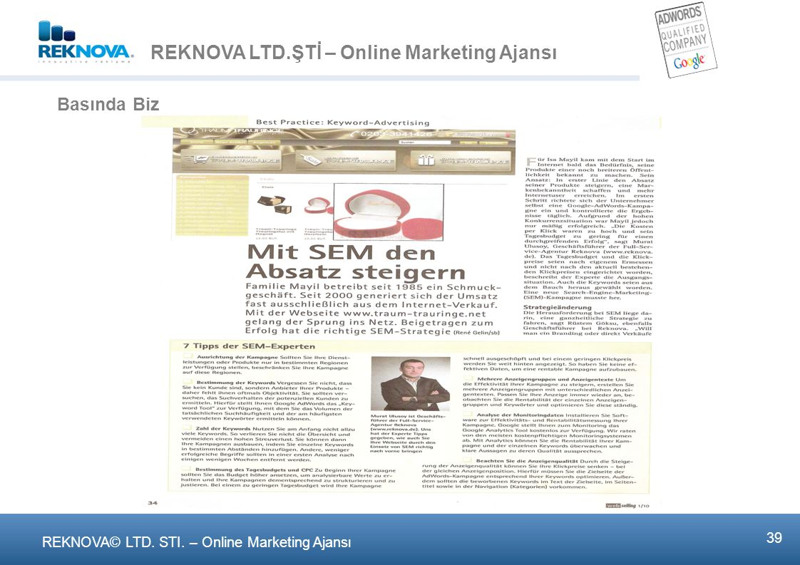 REKNOVA LTD.ŞTİ – Online Marketing Ajansι