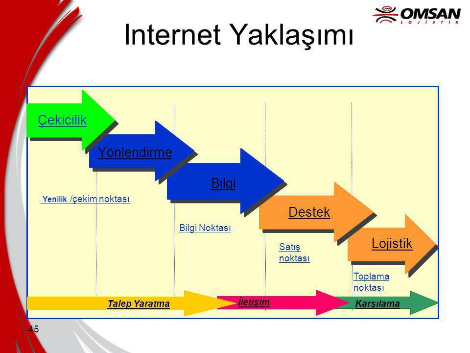Internet Yaklaşımı Çekicilik Yönlendirme Bilgi Destek Lojistik