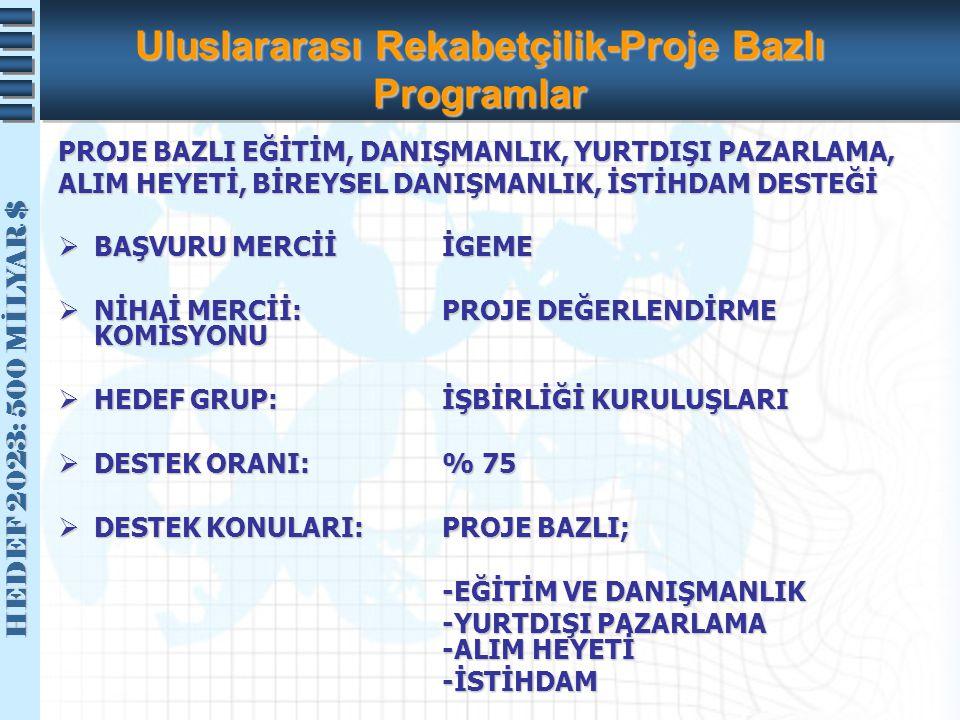 Uluslararası Rekabetçilik-Proje Bazlı Programlar