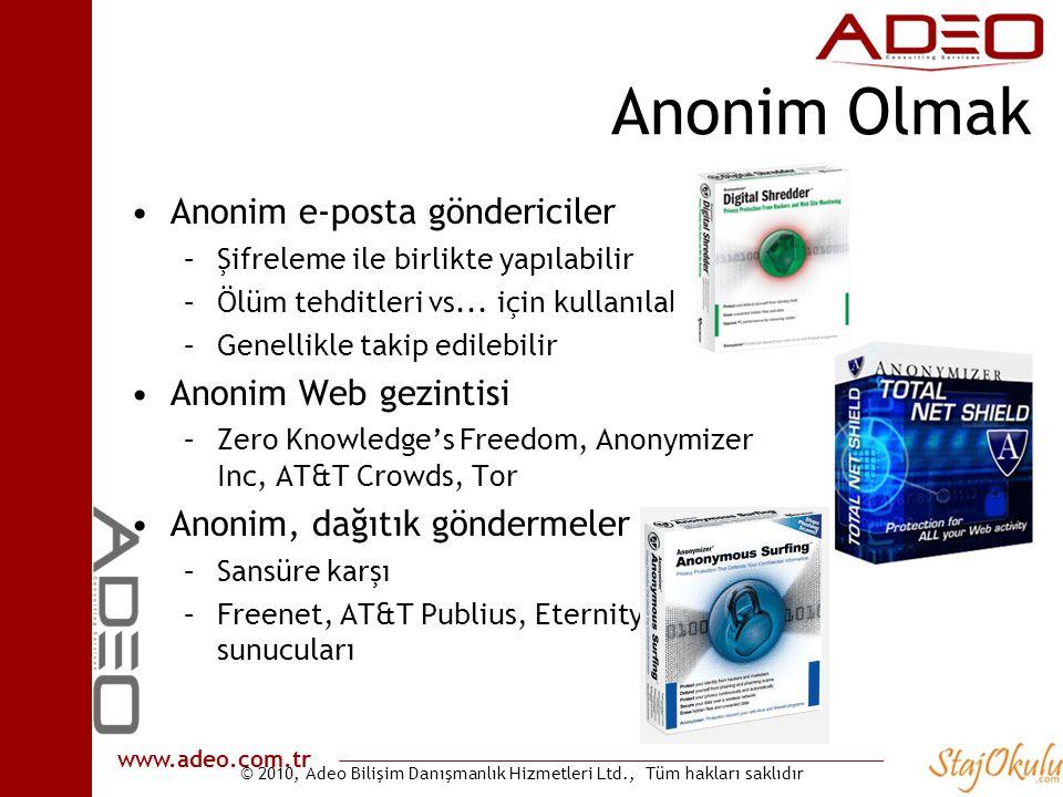 Anonim Olmak Anonim e-posta göndericiler Anonim Web gezintisi