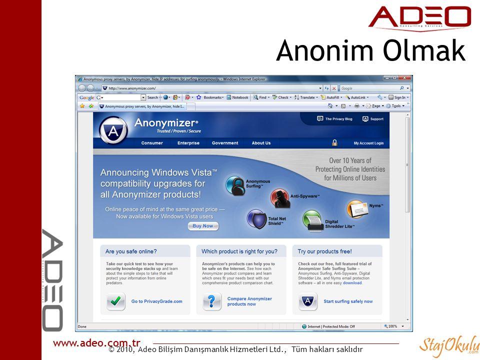 Anonim Olmak