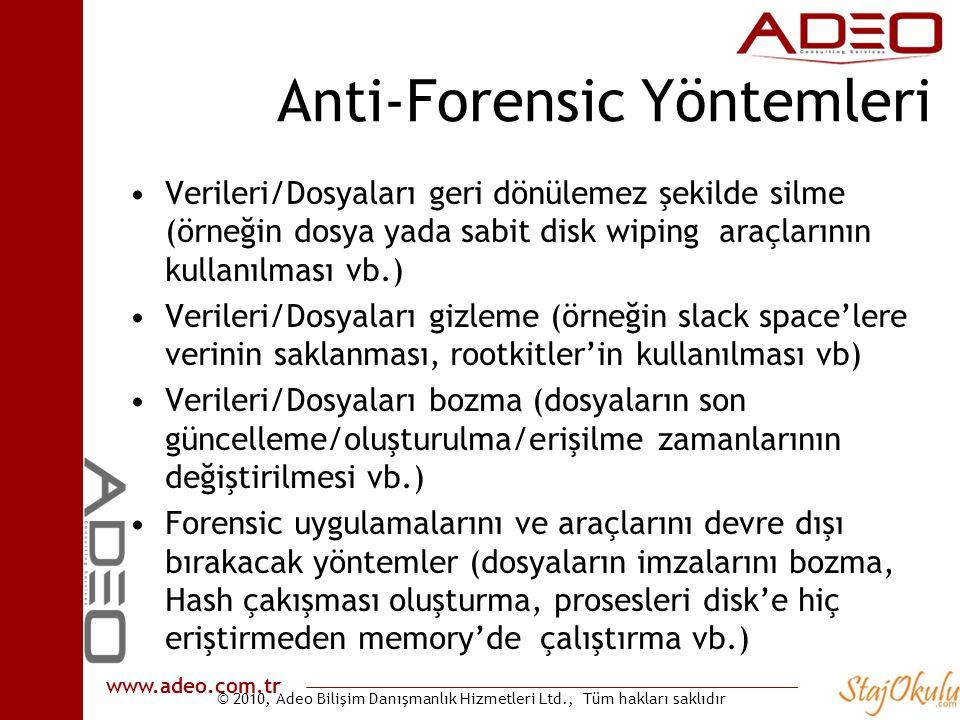 Anti-Forensic Yöntemleri