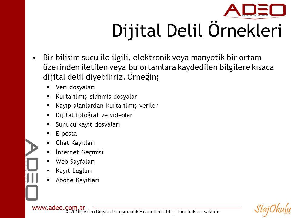 Dijital Delil Örnekleri